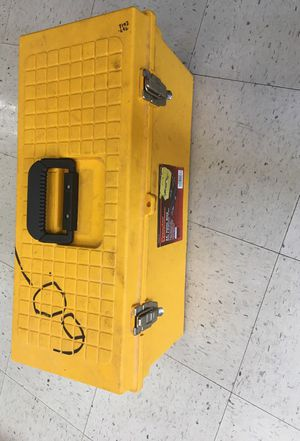 Yellow tool box with automotive tools for Sale in Fort Meade, MD