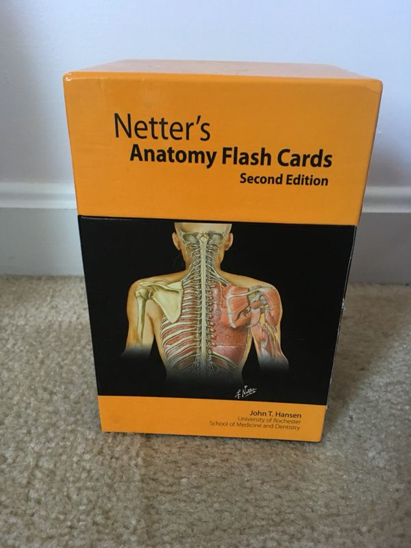 Netter\'s Anatomy flash cards 2nd edition for Sale in Charlotte Hall ...
