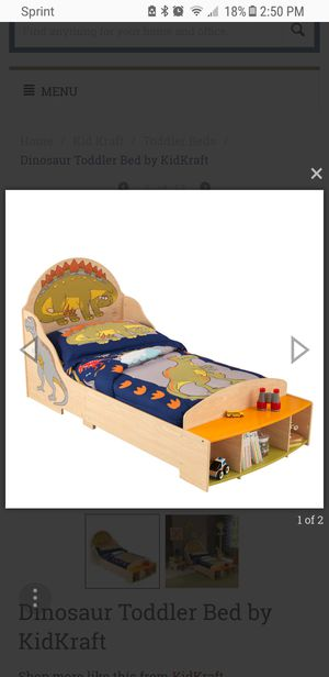 Dinosaur Wooden Toddler Bed for Sale in Pittsburgh, PA