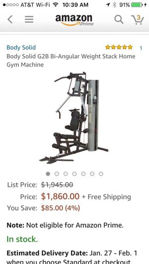 Body-Solid G2B Gym Fitness home gym weights CrossFit exercise equipment Moving sale, yard sale for Sale in Bethesda, MD