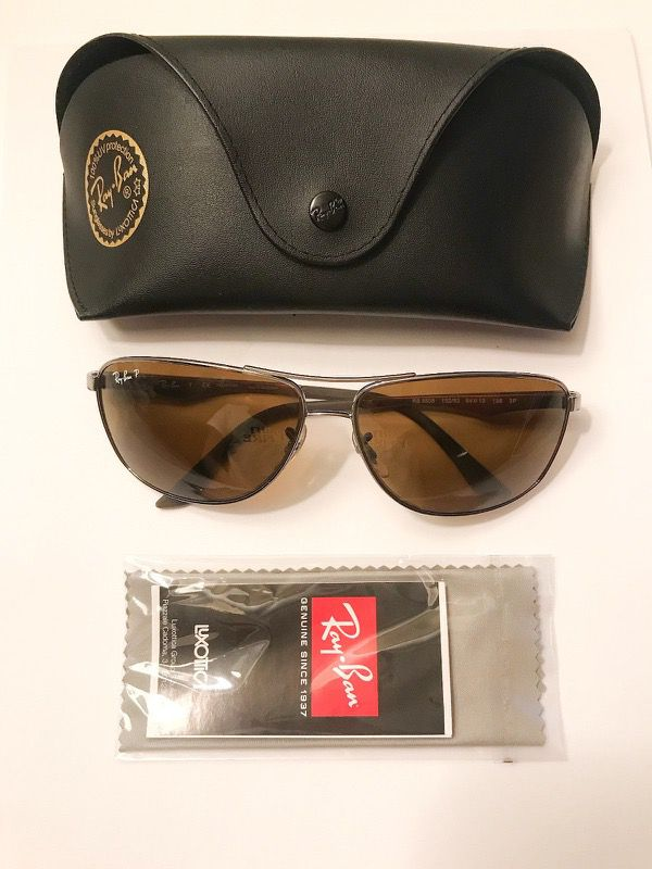 0d7a87f533  180 Ray Ban RB3506 Sunglasses-132 83 Gunmetal (Polarized Brown Lens)-61mm  New for Sale in New York