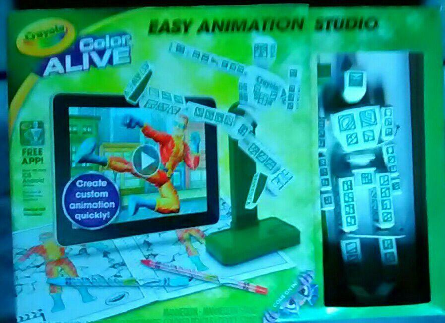Crayola Color Alive Easy Animation Studio NIB
