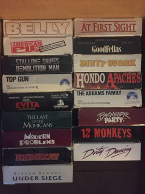 17 VHS Tapes - blockbuster movies! for Sale in Lake Mary, FL