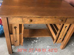 Photo Solid Oak Antique Desk