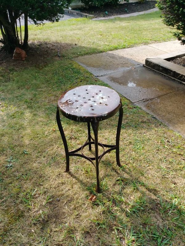 Vintage Metal Chair Or Planters Stool For In Willow Grove Pa Offerup