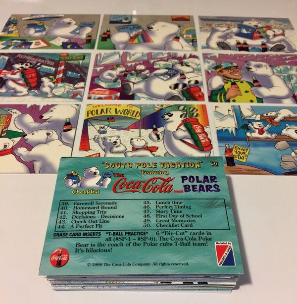 The Coca-Cola Polar Bears  South Pole Vacation Collectors Cards