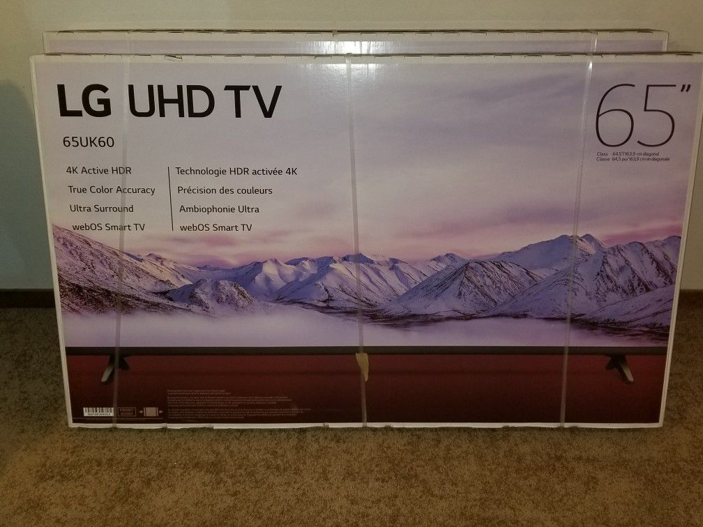 """65"""" LG UHD 4k smart t.v brand new never opened $800 O.B.O. Trade for power tools, toolboxes,"""