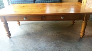Solid wood coffee table with drawers for Sale in Silver Spring, MD