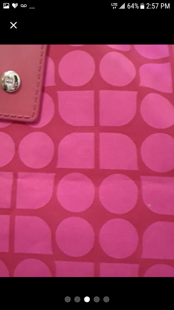 Kate spade tote with leather accents