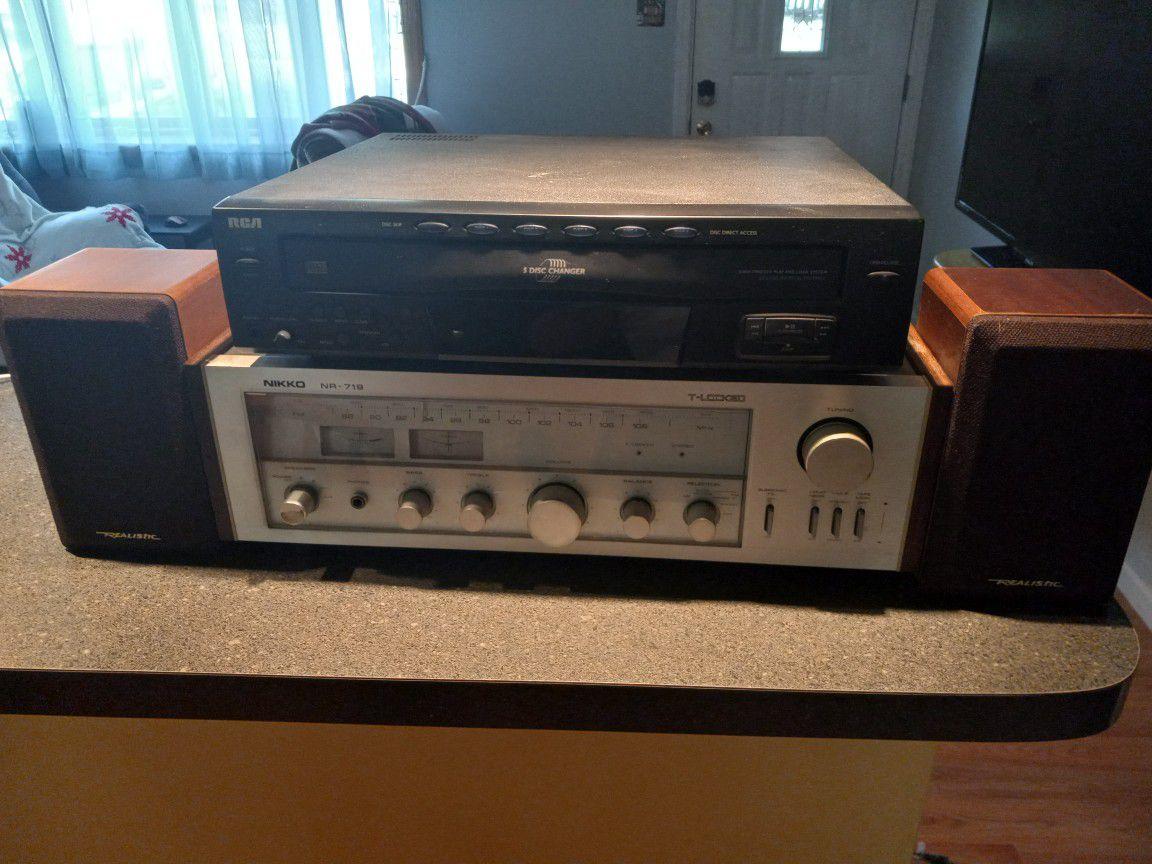 Nikko NR-719 Nr 719 Tuner Amplifier Amp Classic Vintage Stereo Hi Fi Lp Pioneer Sony Denon