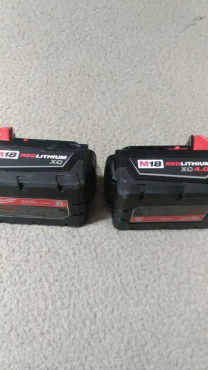 milwaukee battery 18v new for Sale in Hyattsville, MD
