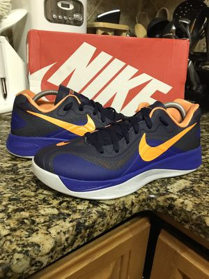 Nike basketball Hyperfuse low blue orange size 9 for Sale in North  Arlington f8d5c8809
