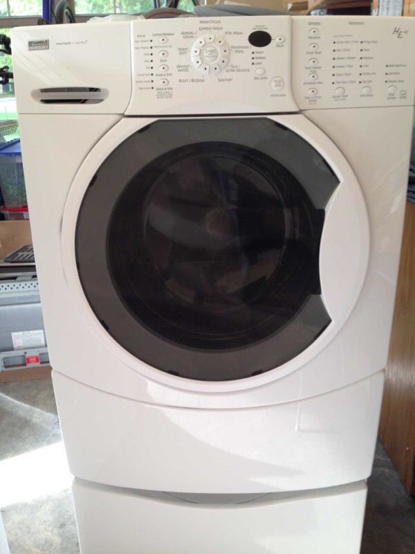 Kenmore He4t Washer And He4 Gas Dryer Set On Pedestals For In Olympia Wa Offerup