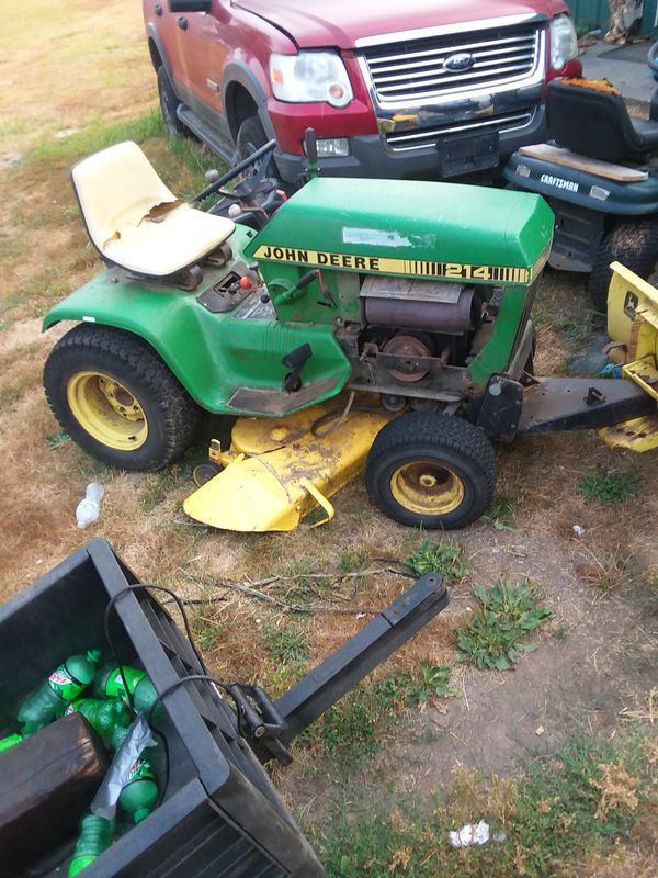 John Deere 214 >> John Deere 214 With Plow On It For Sale In Vader Wa Offerup