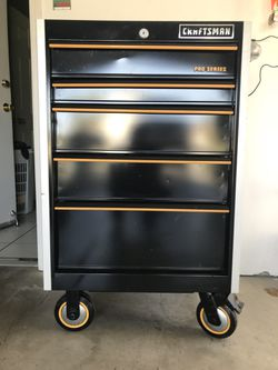 """Used ,but almost new condition !! 5 drawers 21"""" deep 26.1/2. 46"""" High !! $250.00 price firm !! Thumbnail"""