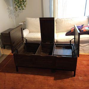 Crate & Barrel - Tucker Gray Rectangular Trunk for Sale in Arlington, VA