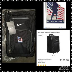 Nike embroidered Veteran luggage for Sale in Dayton, OH