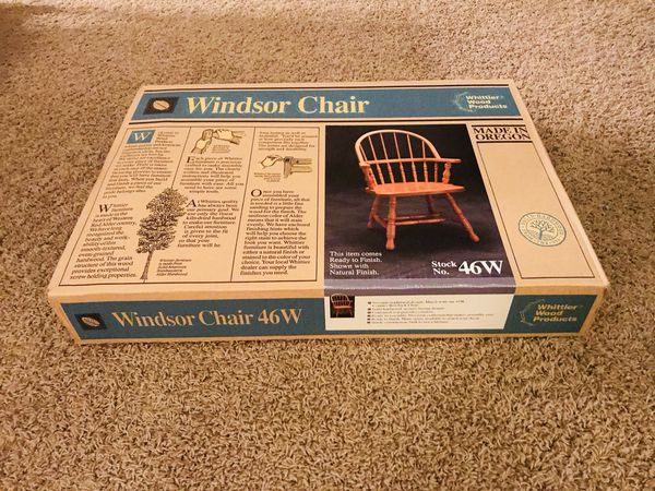 New Windsor Chair Whittier Wood Products 46w Usa