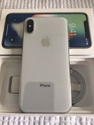 Photo BRAND NEW/OPEN BOX Apple iPhone X 64GB (SPRINT) BOOST MOBILE +USB CABLE +CHARGER $450 FIRM