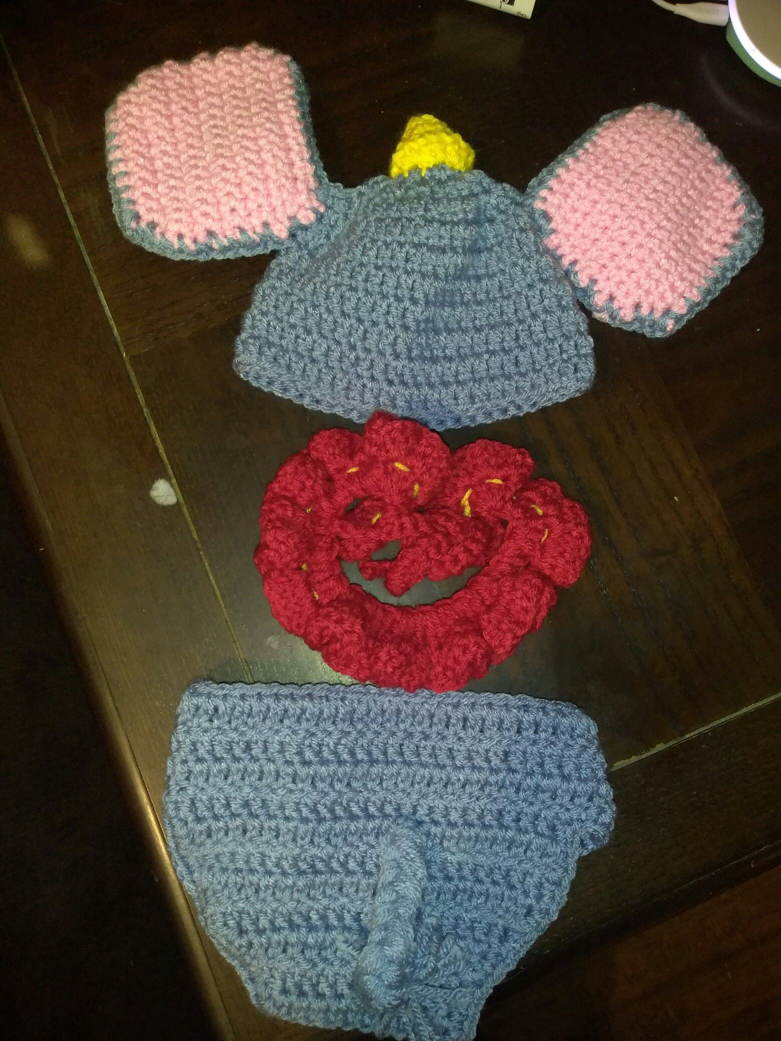 Adorable handmade New born Dumbo outfit