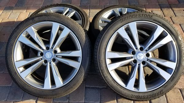 19 Oem Mercedes Benz Wheels Rims Tires Staggered S550 S Class For Sale In Las Vegas Nv Offerup