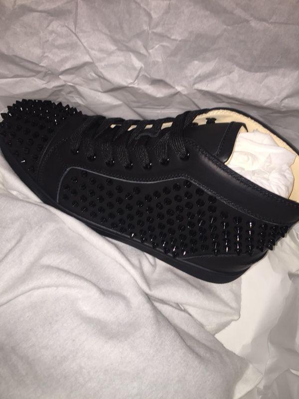 4112f71f50ca Men s Christian Louboutin Louis Spike Sneaker in Capucine Black sz ...
