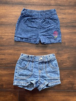 Photo Baby girl clothes toddler denim shorts $2 each or both for $3 size 3T