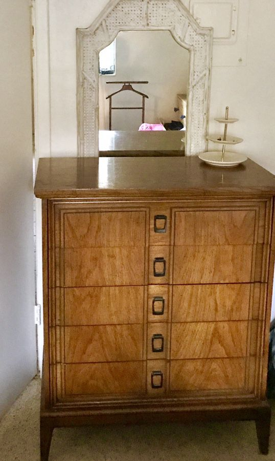 Dixie Furniture Vintage Wood Mid Century Modern Tall Dresser Chest Of Drawers For In Fort Lauderdale Fl Offerup