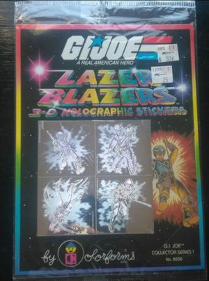 1983 GI Joe Lazer Blazers Hologram Stickers for Sale in Virginia Beach, VA