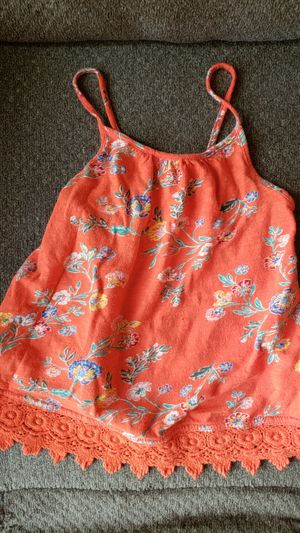 Baby girl orange old navy floral sleeveless blouse 4t for Sale in Diamond Bar, CA