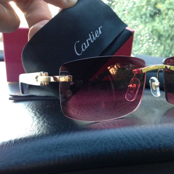 15da3966d76 CARTIER C Décor White Buffalo Sunglasses GREAT DEAL! for Sale in ...