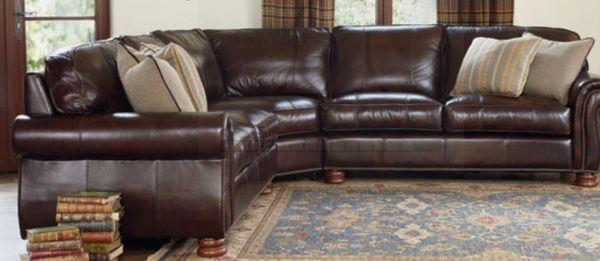 Brilliant Like New Orig 6K Thomasville Leather Sectional Sofa For Creativecarmelina Interior Chair Design Creativecarmelinacom