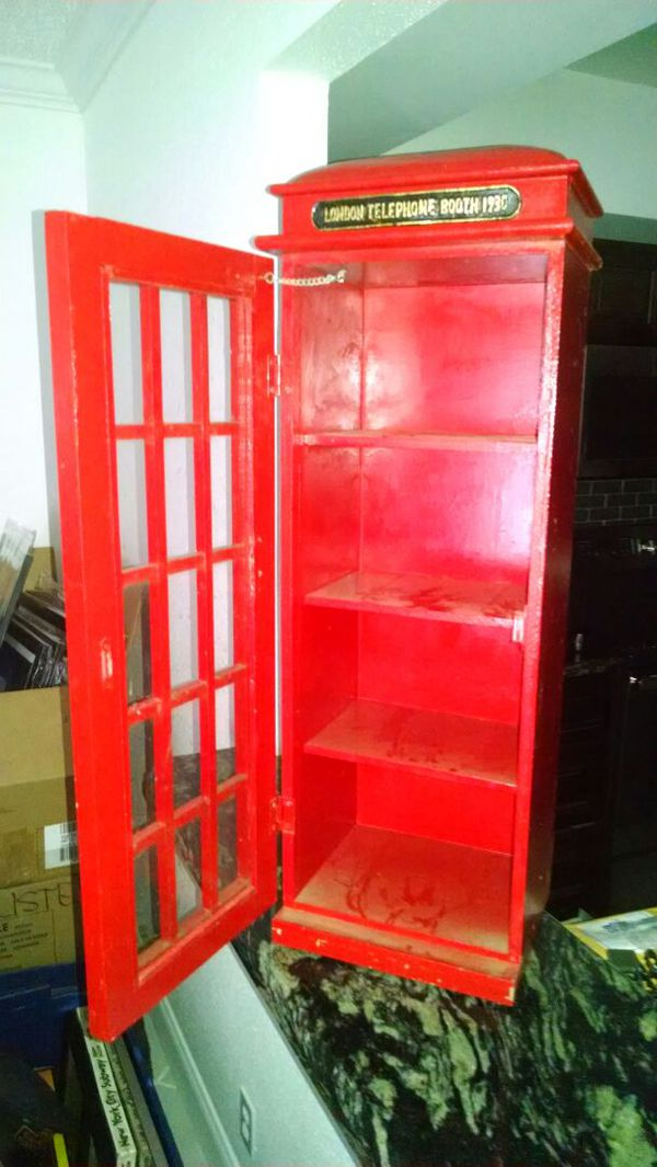 London Phone Booth     with shelves    great piece for Sale in Delray  Beach, FL - OfferUp