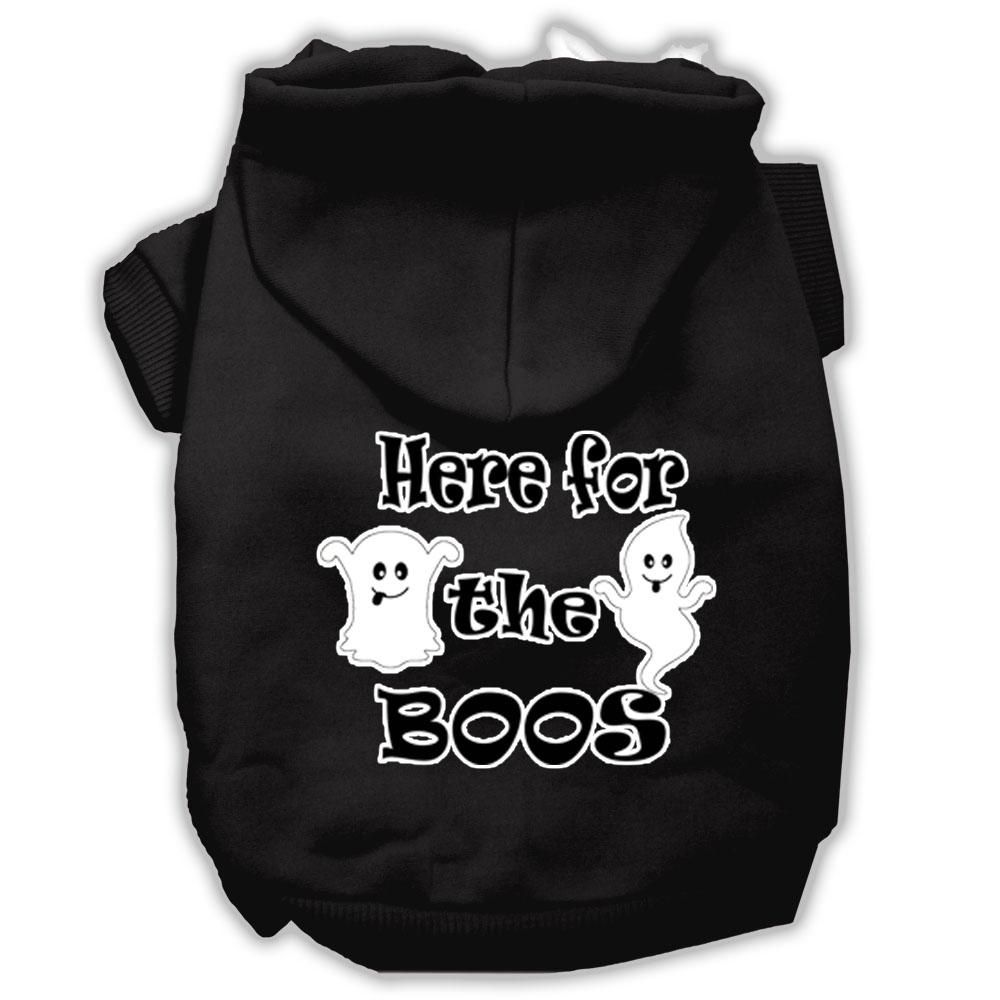 Mirage Pet Products Here for the Boos Screenprint Dog Hoodie Size Large