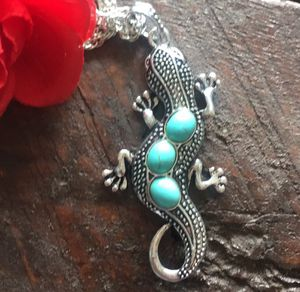 Lizard necklace. Gecko. Turquoise color stone. for Sale in Denver, CO