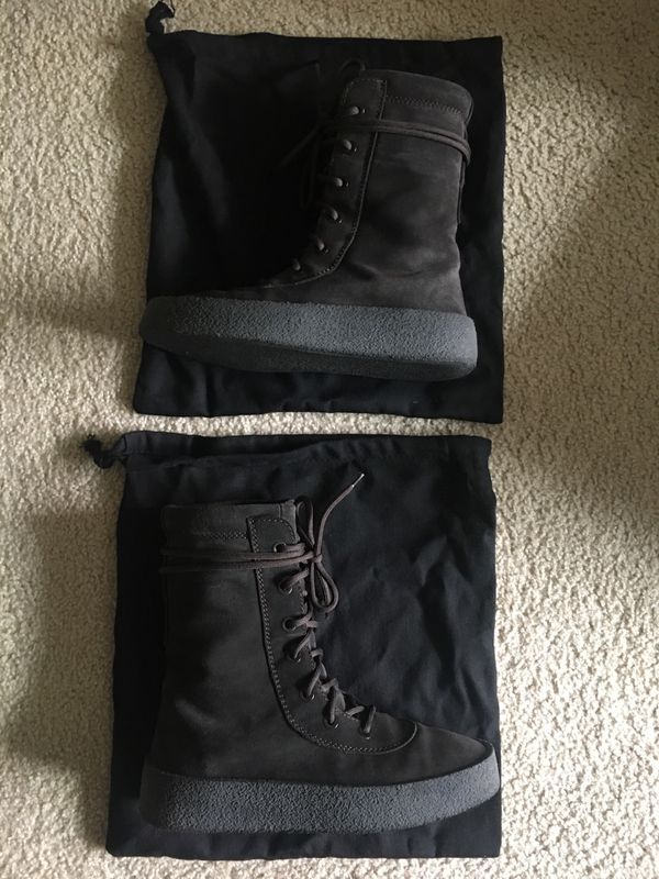 "new style acefc 63665 Yeezy Season 2 Crepe Boot ""Oil"" size 9 9.5 supreme"