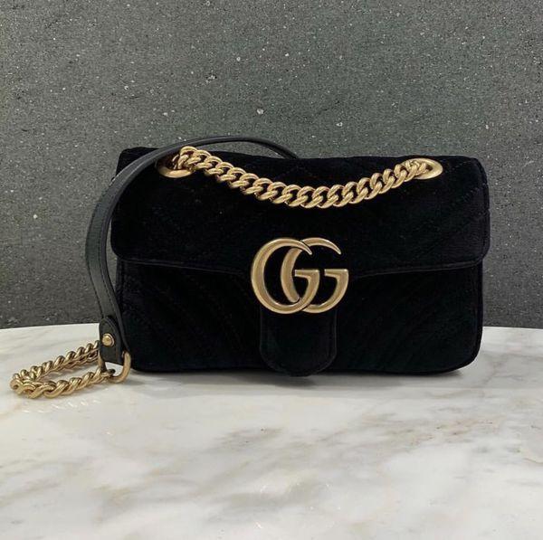 a3e98172e5f0 Gucci Black Velvet Handbag for Sale in East Norriton, PA - OfferUp
