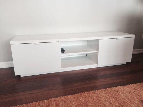 6de03cd0547 IKEA Byas TV Unit. Gloss white. Like new for Sale in Dawsonville