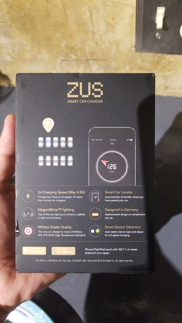 NONDA ZUS 24karat 24k Limited Edition SMART CAR CHARGER NO784 24K GOLD PLATED CES 2018 For Sale In Downey CA