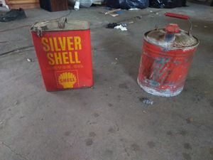 Old gas cans(2) for Sale in Wildwood, MO