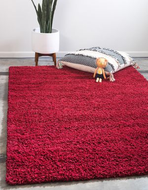 Brand new red carpet size 8x11 nice modern style rugs shag rug for Sale in Burke, VA