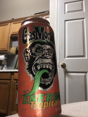Photo Gas monkey Energy drinks that blows monster and Red Bull away at half the price only $40 per case that is 24 cans. Great Flavor full energy without t