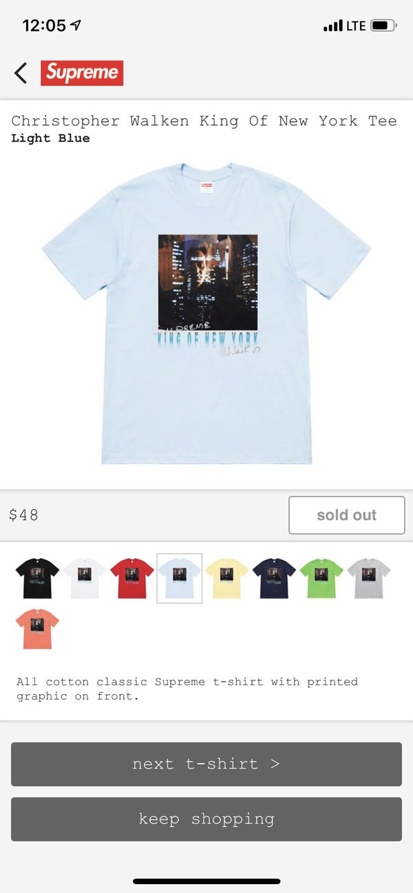 22beb78c7f8f Supreme Christopher Walken King of New York Tee size M for Sale in ...