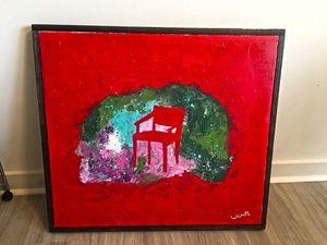 """Le chair"" positive painting art piece"". 100% original for Sale in Alexandria, VA"