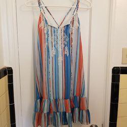 Chelsea & Violet Blue, Orange and White Striped Blouse Thumbnail