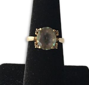 Real gold Mystic Topaz ring for Sale in Alexandria, VA