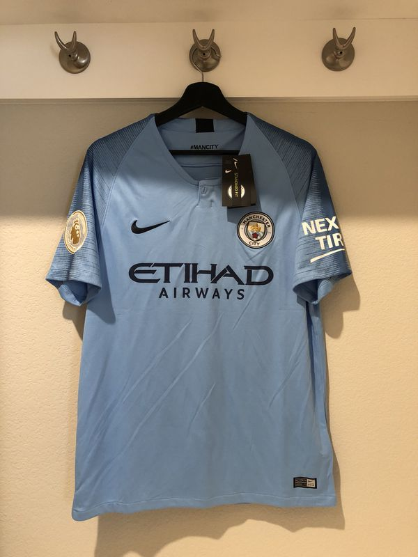 41b25265761 Manchester city soccer jersey official 18-19 for Sale in Plano
