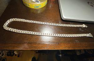 Photo Silver chain 925 cuban link