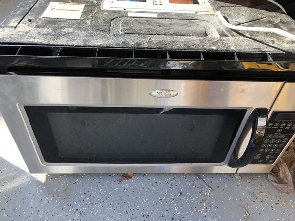Microwave Oven S Above Range Stainless Steel And White For