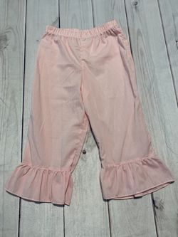 NWT Pink Gingham Ruffle Pants - Size 8 Thumbnail